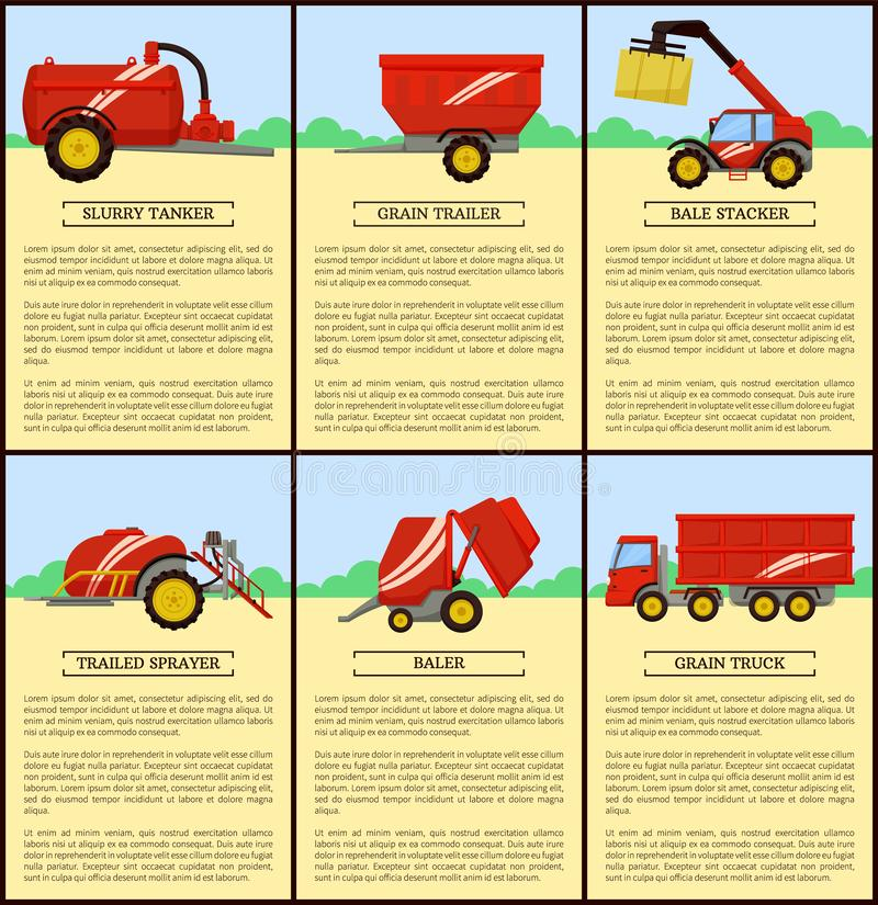 Ilustração do vetor do reboque da grão do petroleiro da pasta ilustração stock
