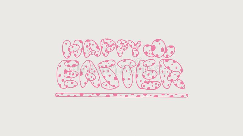 Ilustração do vetor Rotulação colorida moderna elegante tirada da Páscoa mão feliz isolada no fundo - O arquivo do vetor ilustração royalty free