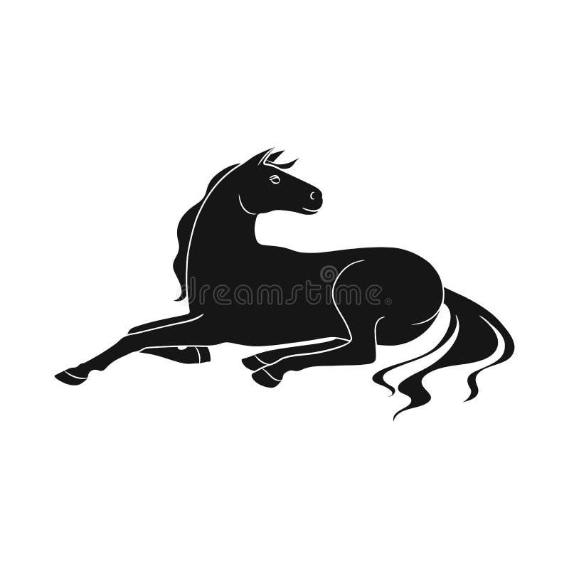 Ilustração do vetor do símbolo do cavalo e da raça Ajuste do cavalo e do símbolo de ações da agricultura para a Web ilustração do vetor