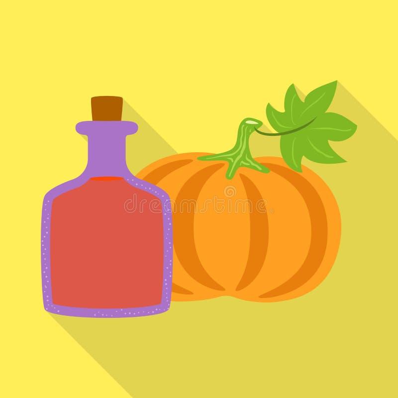 Ilustração do vetor do símbolo da abóbora e da semente Coleção da abóbora e do símbolo de ações da dieta para a Web ilustração stock