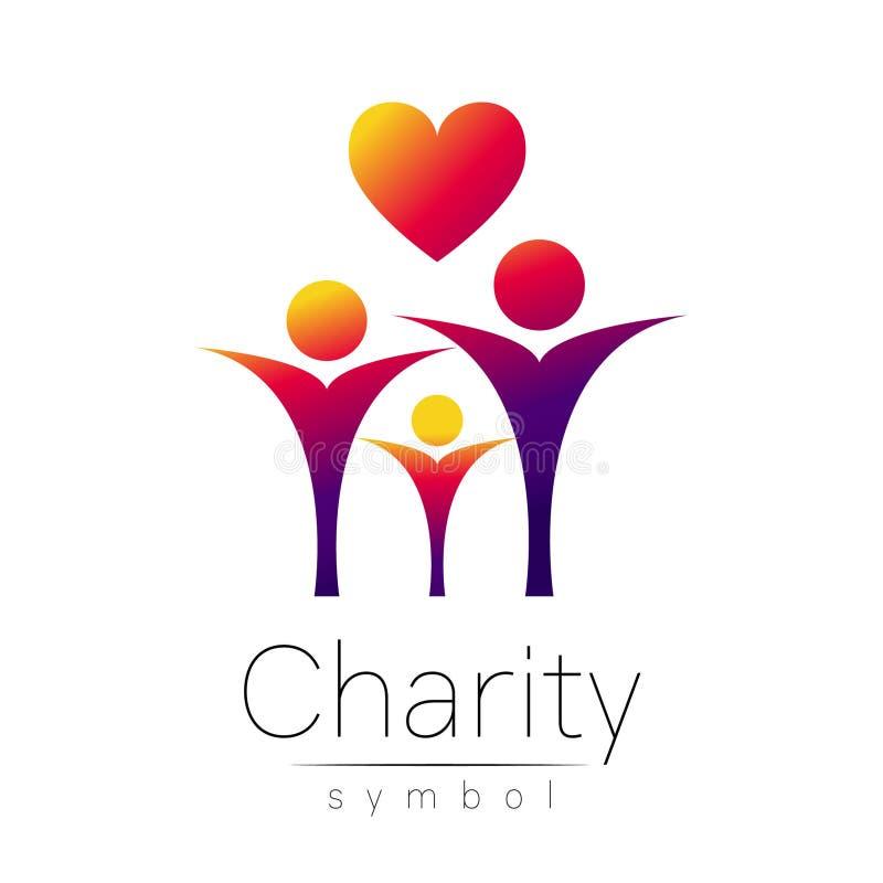 Ilustração do vetor Símbolo da caridade Coração dos povos do sinal isolado no fundo branco Empresa de Violet Icon, Web, cartão ilustração royalty free
