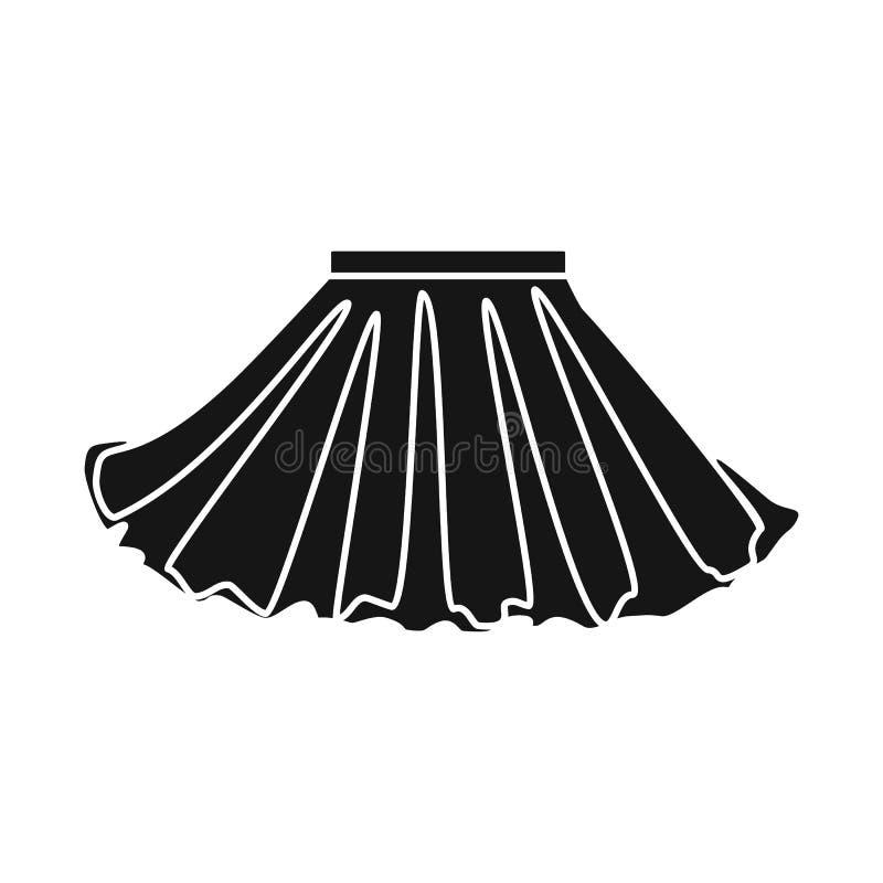Ilustração do vetor do símbolo da saia e da menina Cole??o da saia e ?cone plissado do vetor para o estoque ilustração do vetor