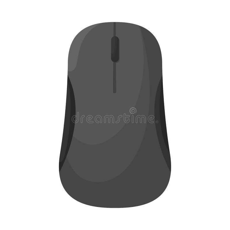 Ilustração do vetor do símbolo do rato e da mão Ajuste do rato e do símbolo de ações do clique para a Web ilustração royalty free