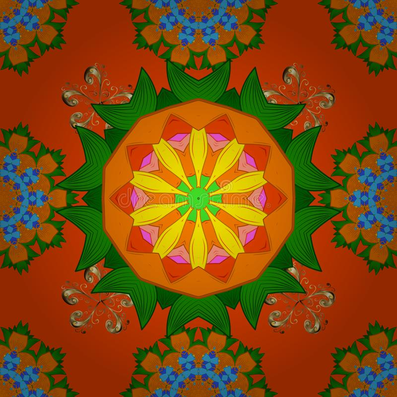 Ilustração do vetor seamless Teste padrão floral bonito na flor pequena ilustração royalty free