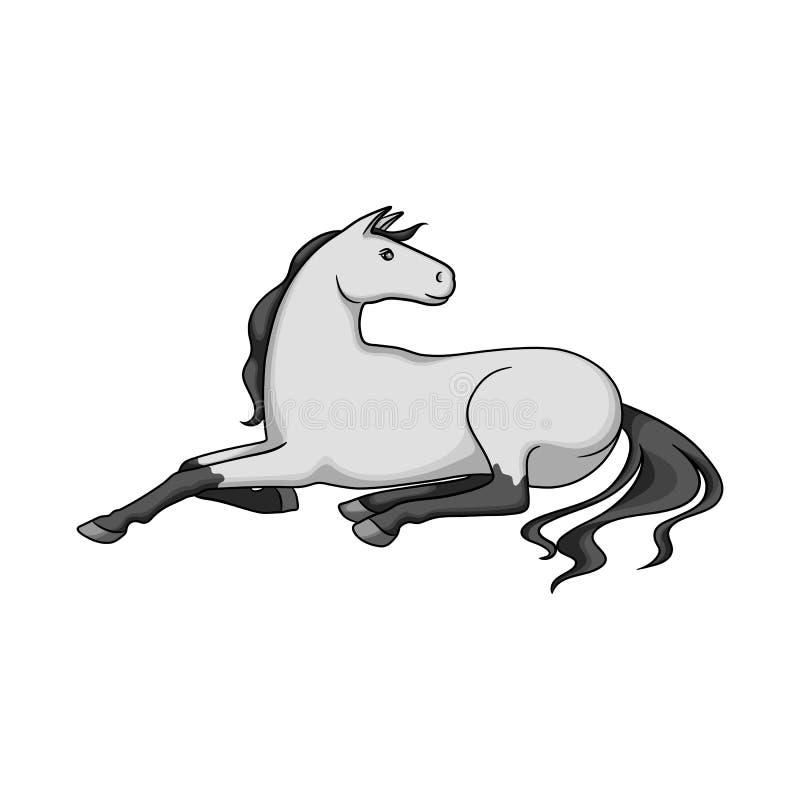 Ilustração do vetor do sinal do cavalo e da raça Coleção do cavalo e do símbolo de ações da agricultura para a Web ilustração royalty free