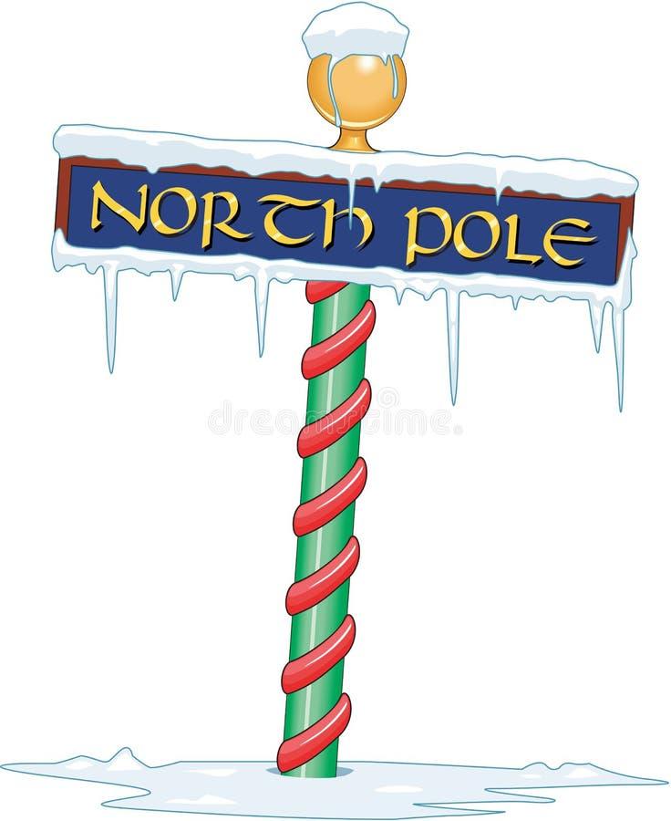 Ilustração do vetor do sinal do Polo Norte ilustração royalty free