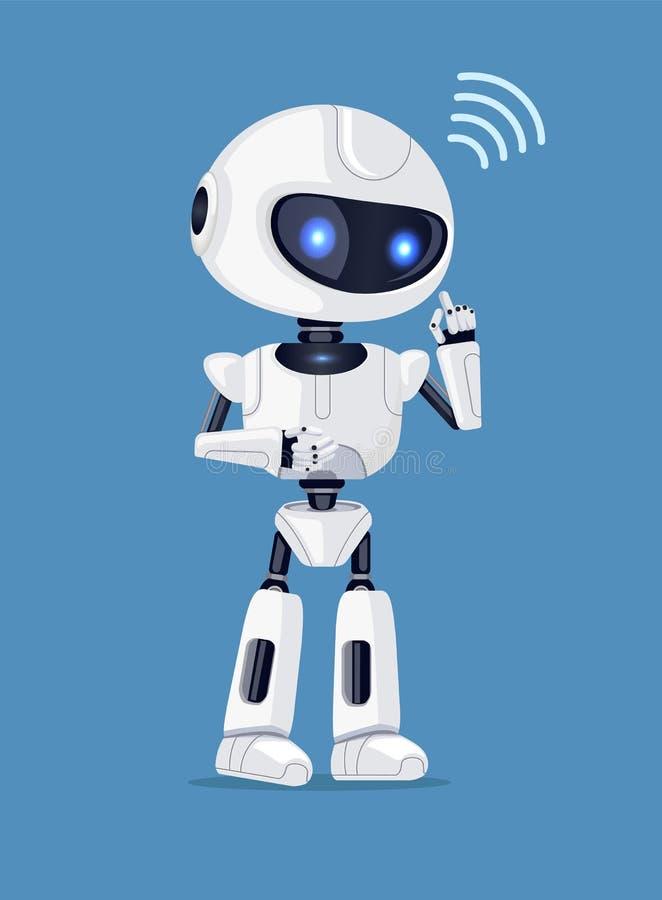 Ilustração do vetor do sinal do robô e da conexão ilustração do vetor