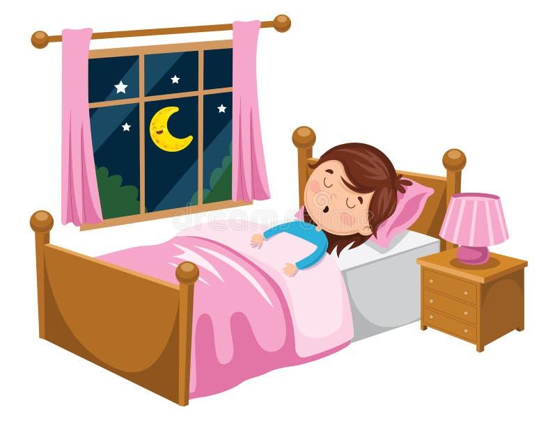 Ilustração do vetor do sono da criança ilustração royalty free
