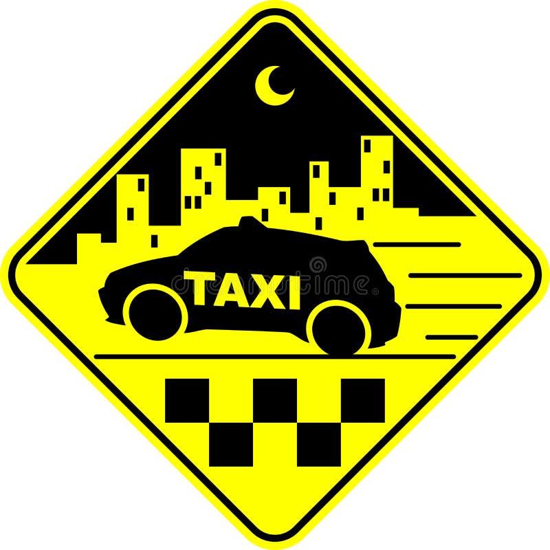 Ilustração do vetor do táxi foto de stock royalty free