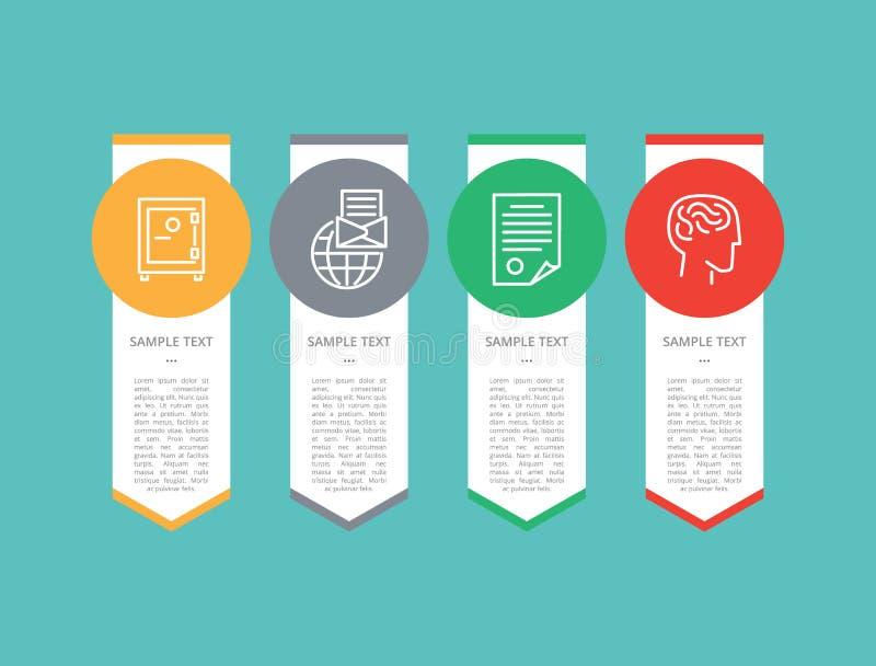 Ilustração do vetor do texto do grupo de elementos de Infographic ilustração do vetor