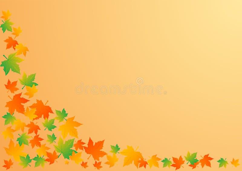 Ilustração do vetor um fundo do outono ilustração stock