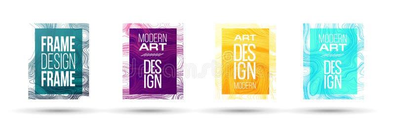 Ilustração do vetor Um moderno minimalistic coloriu o projeto do quadro ilustração do vetor