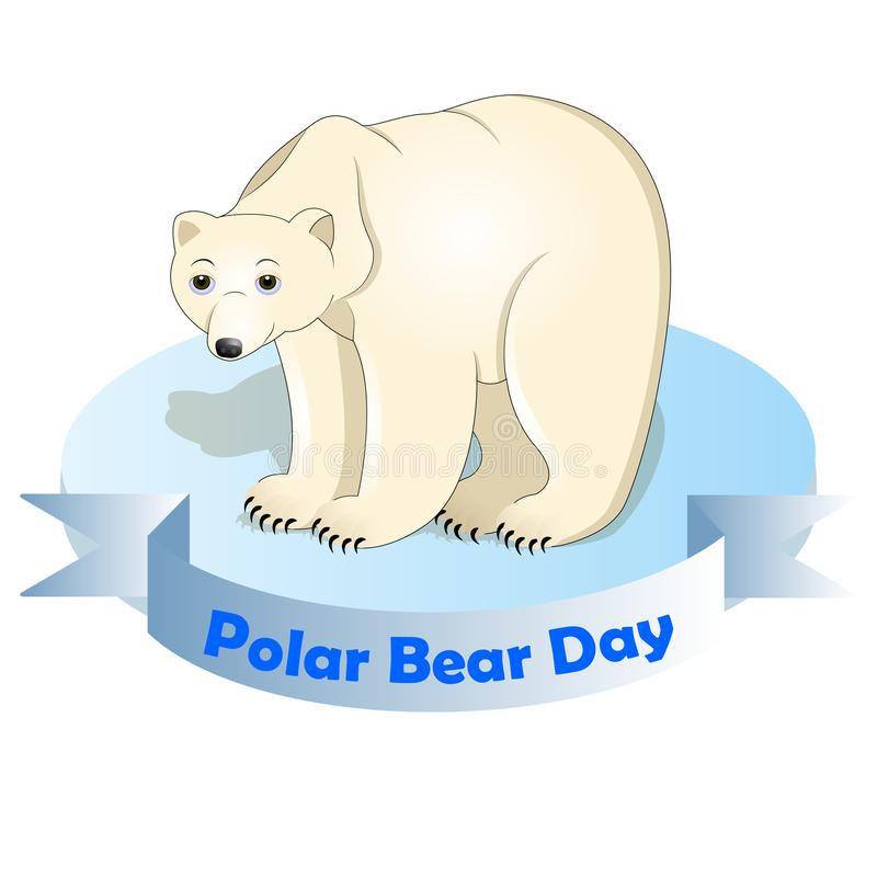 Ilustração do vetor do urso polar ilustração royalty free