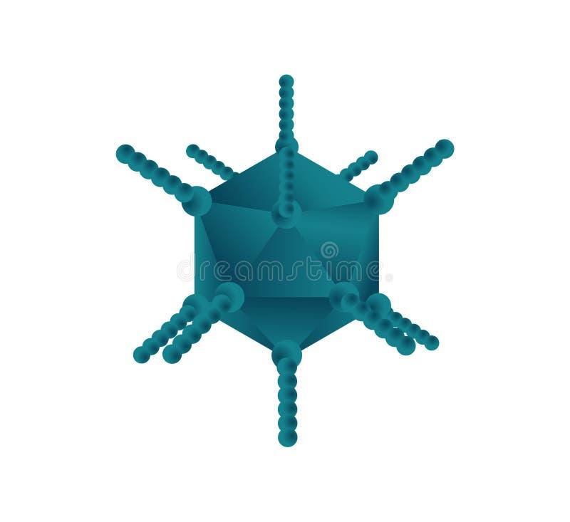 Ilustração do vetor do vírus adenoide ilustração do vetor