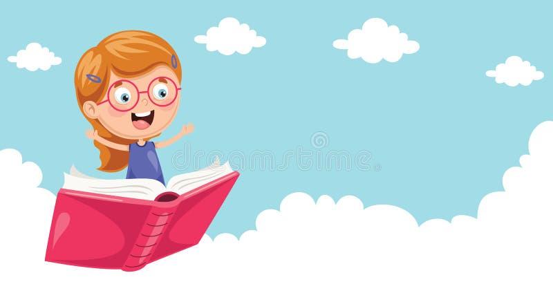 Ilustração do vetor do voo dos alunos ilustração do vetor