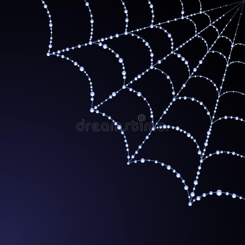 Ilustração do Web de aranha do vetor ilustração do vetor