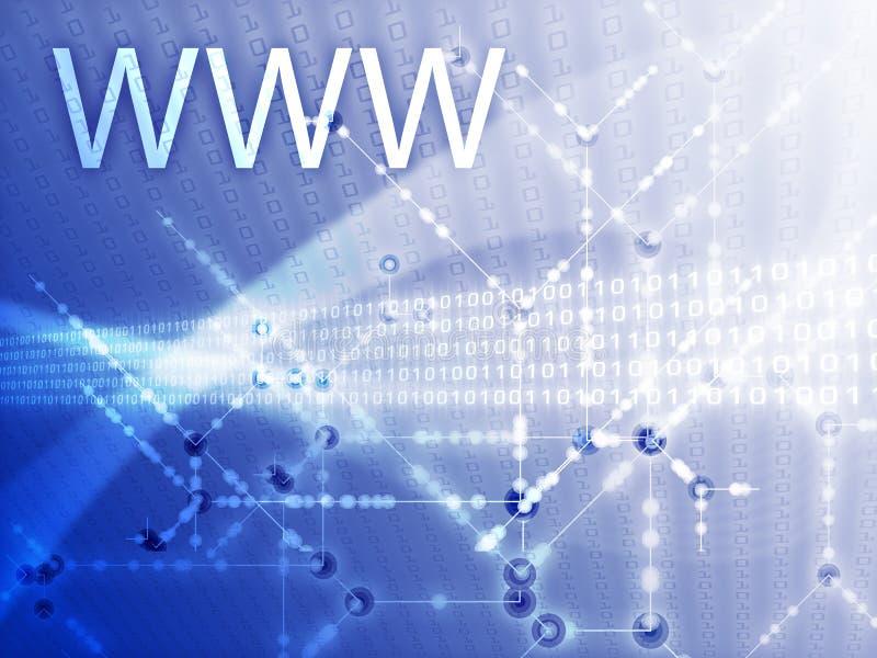 Ilustração do World Wide Web ilustração do vetor