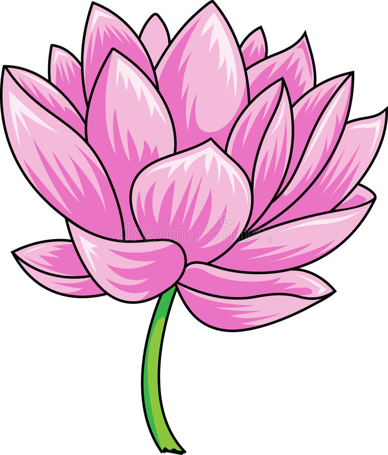Ilustração do zen da flor dos lótus ilustração stock