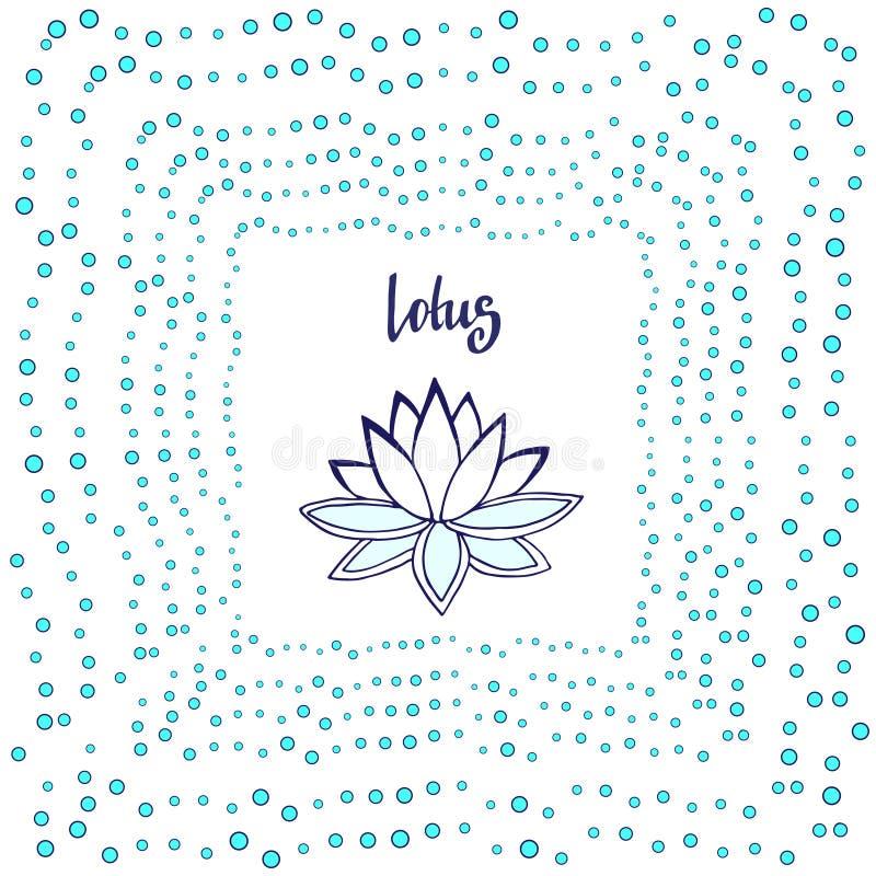 Ilustração do zen da flor dos lótus Ilustração bonito do vetor do zen ilustração royalty free