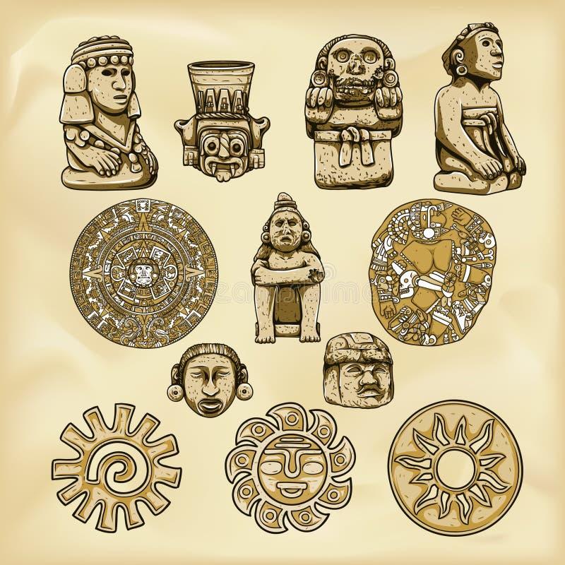 Ilustração dos astecas ilustração stock