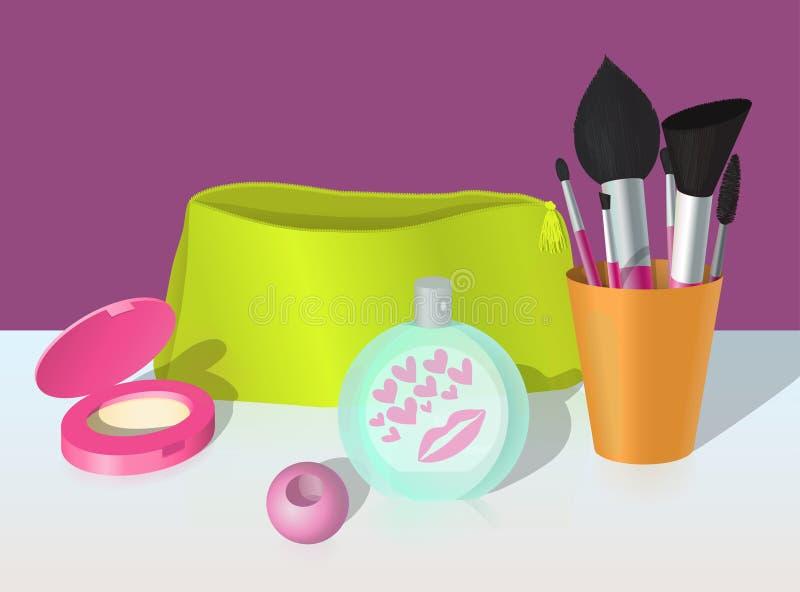 Ilustração dos cosméticos e do perfume ilustração royalty free