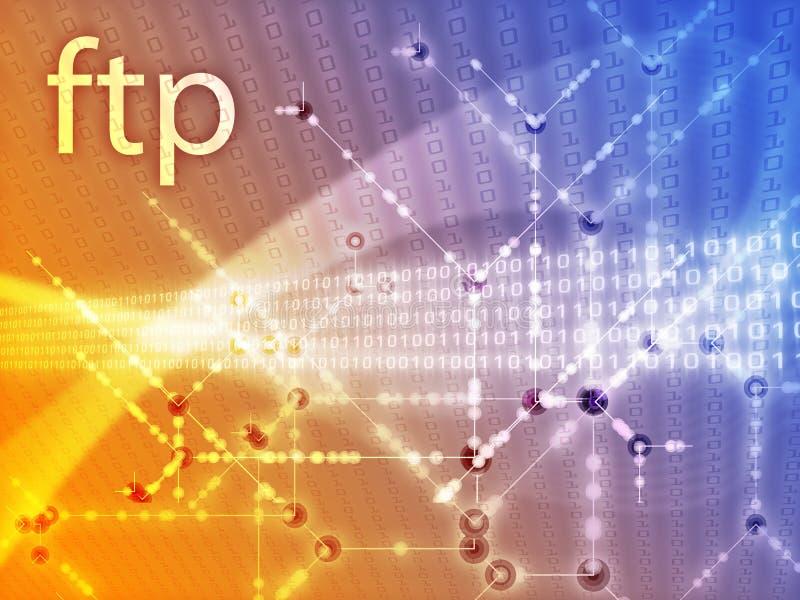 Ilustração dos dados do ftp ilustração stock
