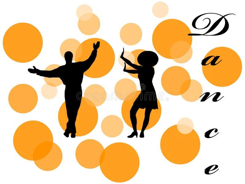 Ilustração dos dançarinos foto de stock royalty free