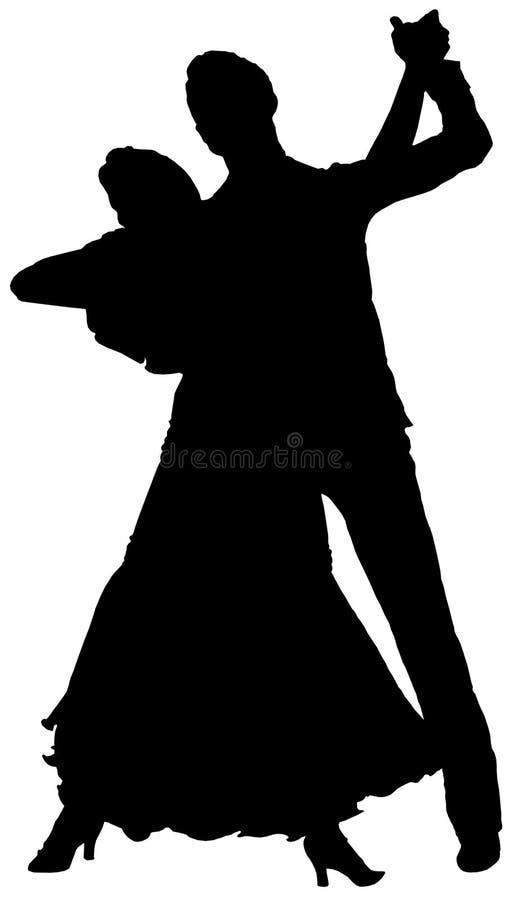 Ilustração dos dançarinos fotos de stock