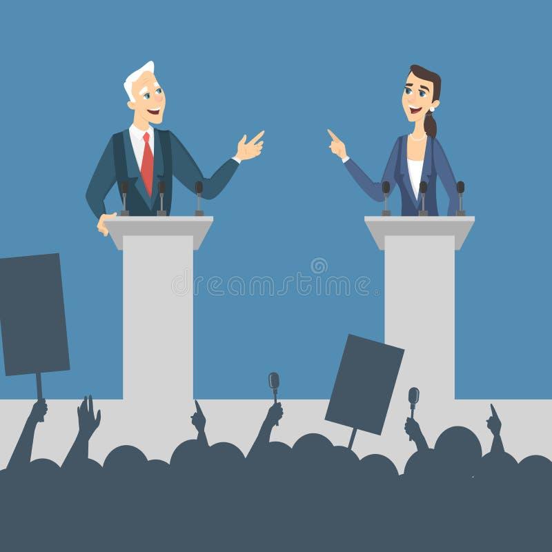 Ilustração dos debates políticos ilustração royalty free