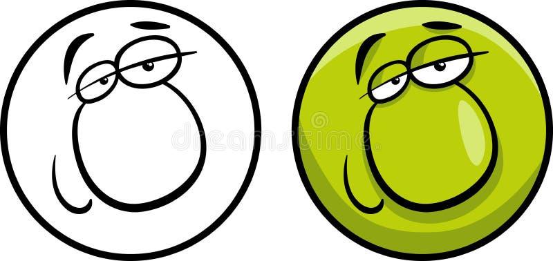 Ilustração dos desenhos animados da cara do caráter ilustração do vetor