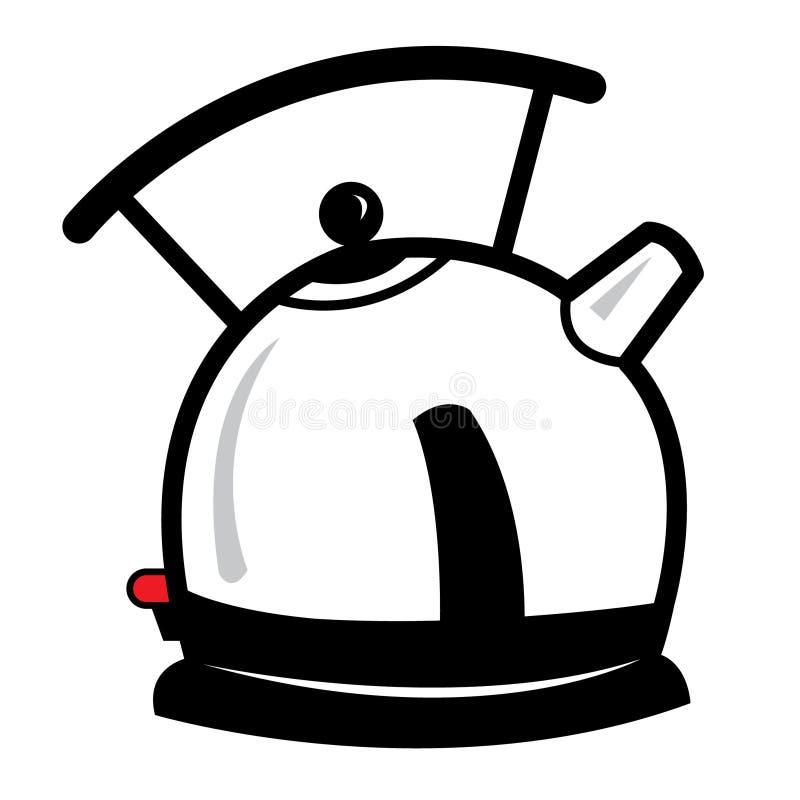 Ilustração dos desenhos animados da chaleira fotos de stock royalty free