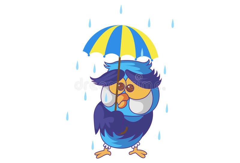 Ilustração dos desenhos animados da coruja bonito ilustração stock
