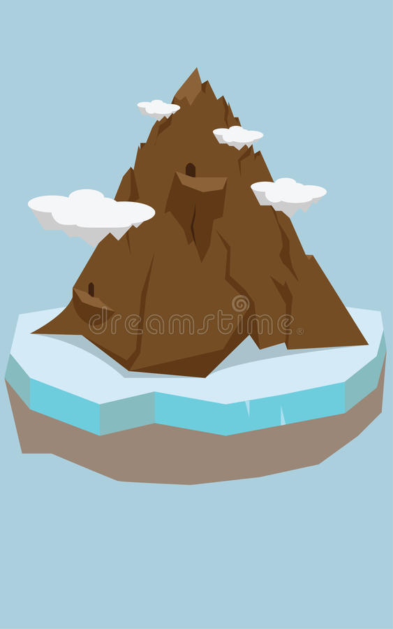 Ilustração dos desenhos animados da montanha foto de stock royalty free