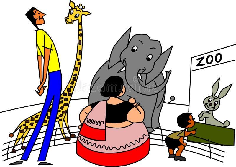 Ilustração dos desenhos animados da mordaça ilustração stock
