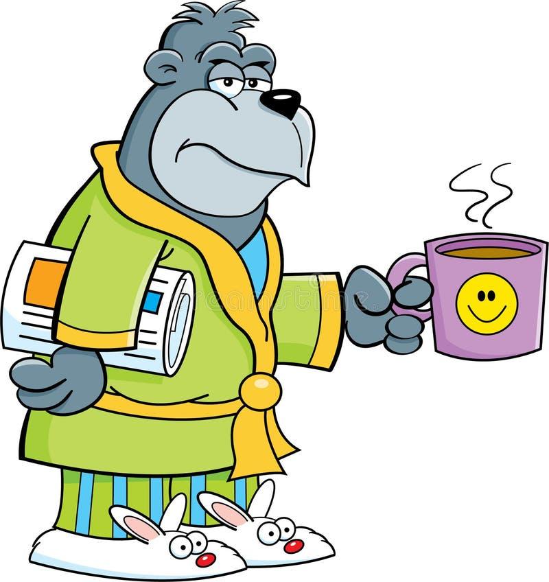 Gorila grouchy dos desenhos animados ilustração royalty free