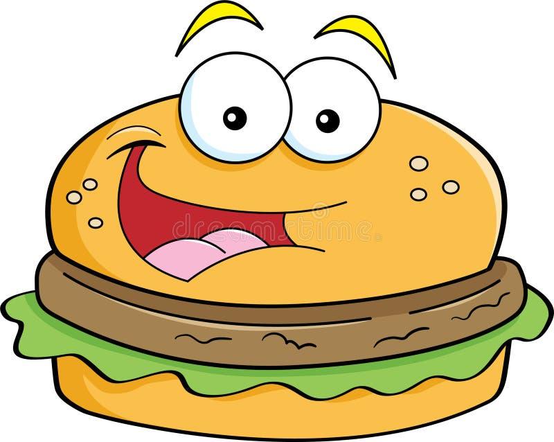 Hamburger dos desenhos animados ilustração royalty free