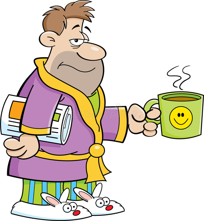 Homem grouchy dos desenhos animados ilustração royalty free