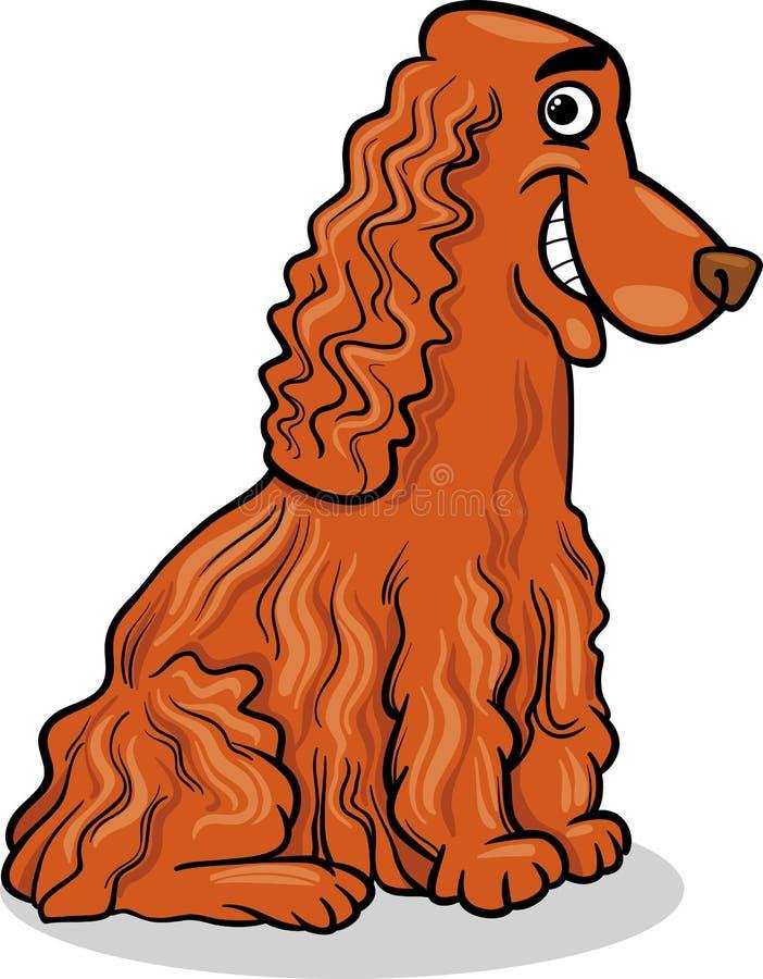 Ilustração dos desenhos animados do cão de cocker spaniel ilustração stock