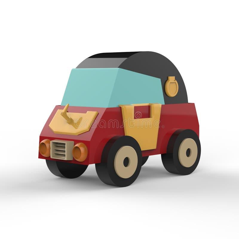 Ilustração dos desenhos animados do carro retro ilustração 3D ilustração do vetor