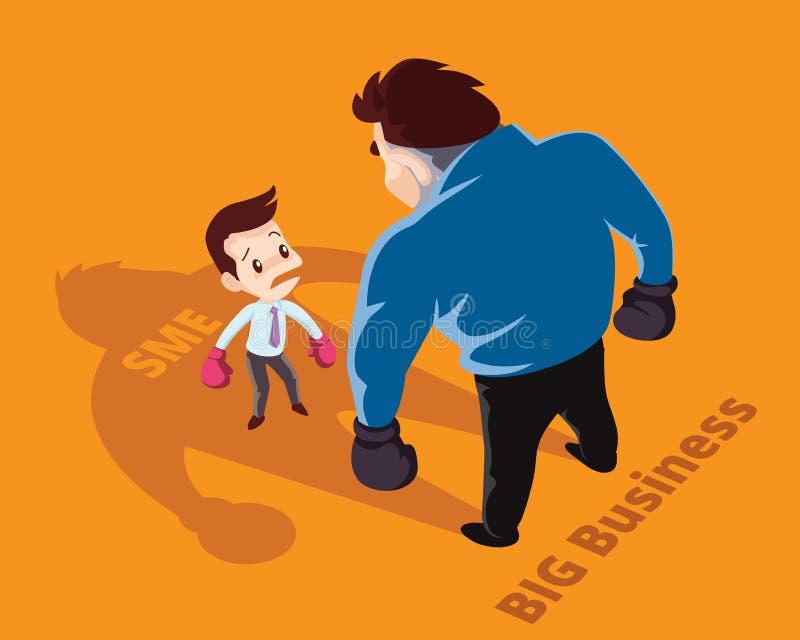 Ilustração dos desenhos animados do conceito do negócio ilustração royalty free