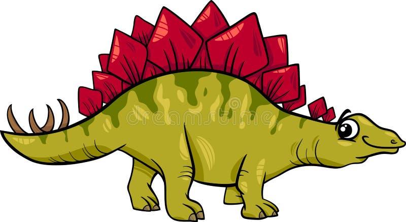 Ilustração dos desenhos animados do dinossauro do Stegosaurus ilustração royalty free