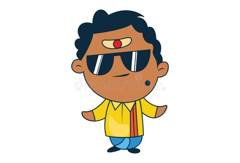 Ilustração dos desenhos animados do homem indiano sul ilustração stock