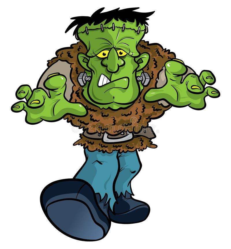 Ilustração dos desenhos animados do monstro de Frankenstein ilustração royalty free