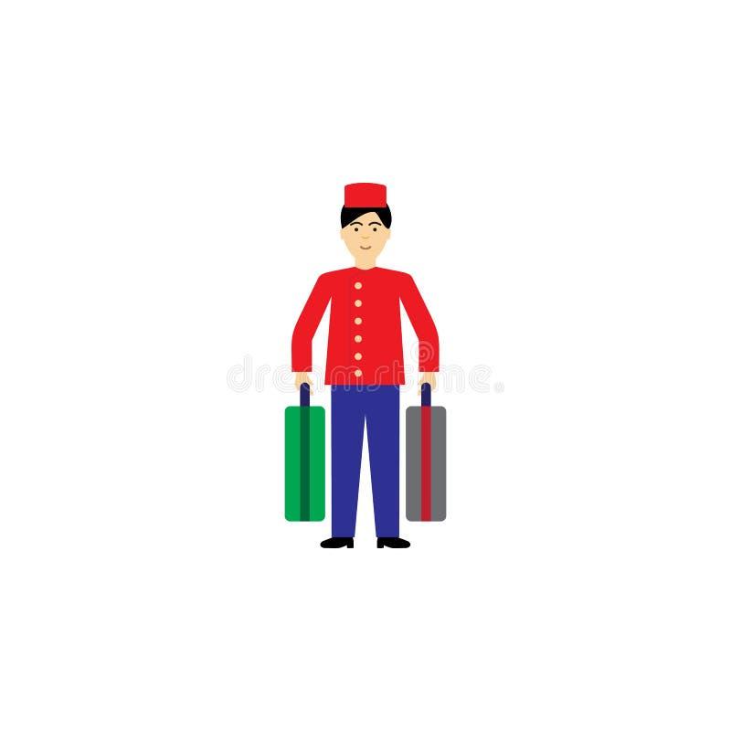ilustração dos desenhos animados do recepcionista Elemento do ícone dos desenhos animados da profissão para apps móveis do concei ilustração do vetor
