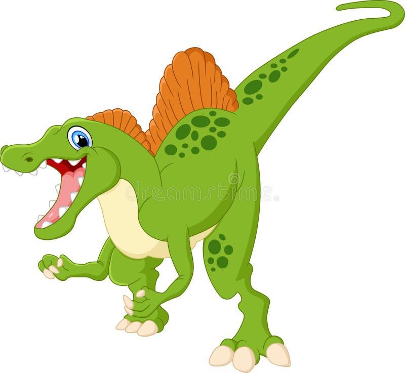Ilustração dos desenhos animados do spinosaurus do dinossauro ilustração royalty free