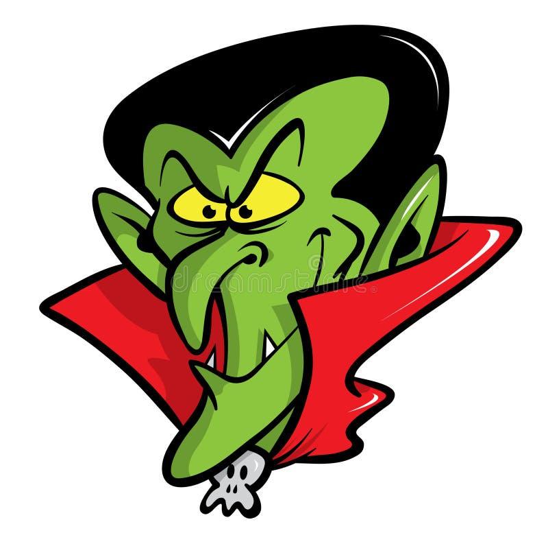 Ilustração dos desenhos animados do vampiro de Dracula ilustração royalty free