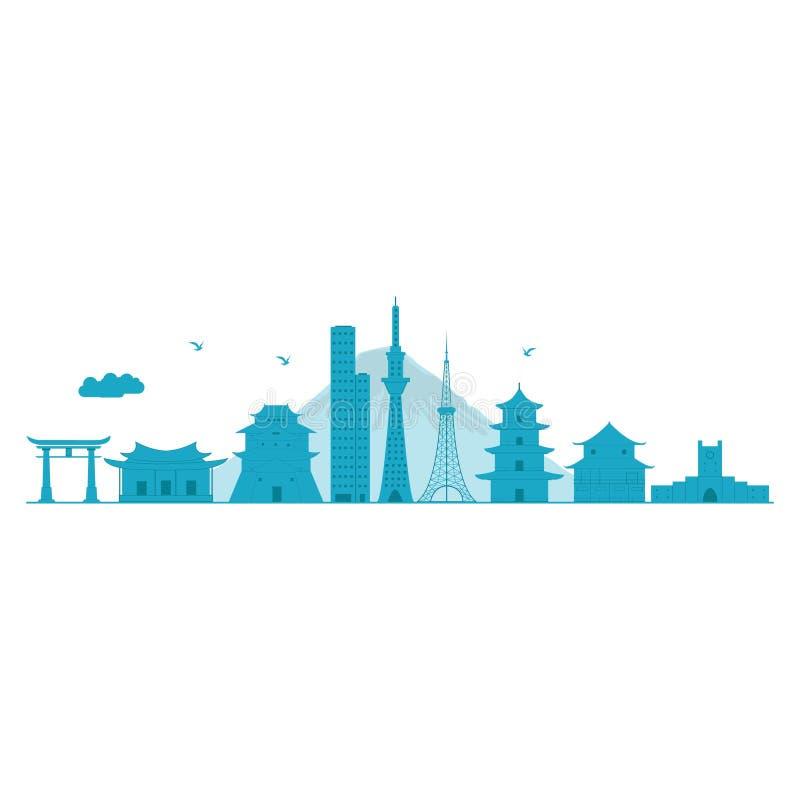 Ilustração dos desenhos animados do vetor da skyline ilustração do vetor