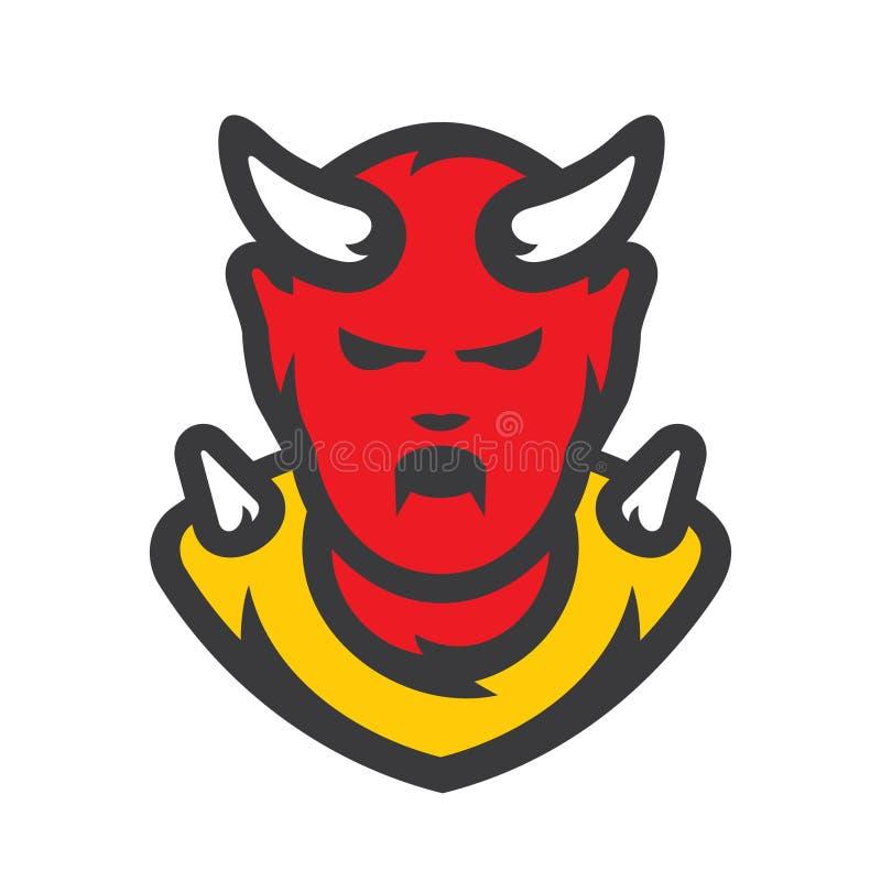 Ilustração dos desenhos animados do vetor do diabo vermelho ilustração stock