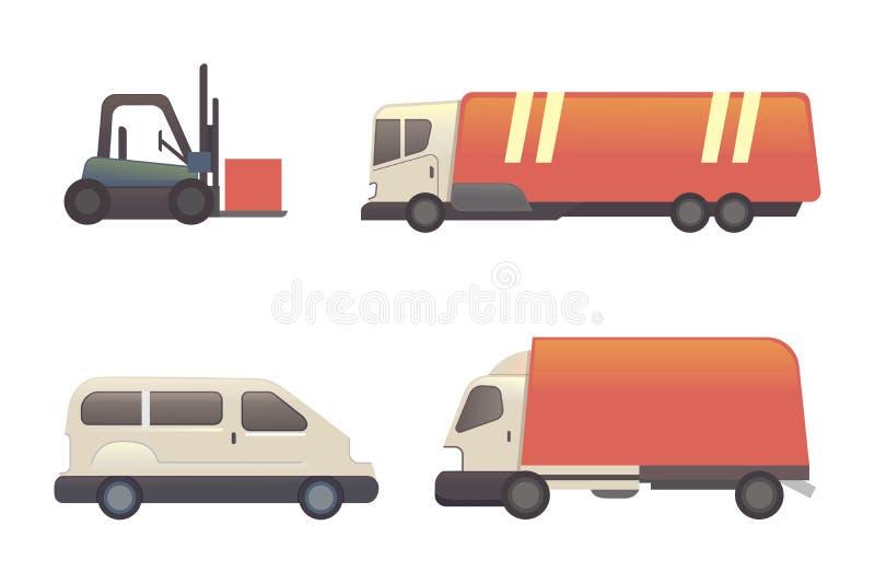 Ilustração dos desenhos animados do vetor do transporte ilustração stock