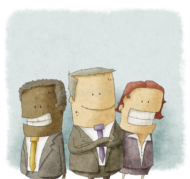 Ilustração dos executivos ilustração stock